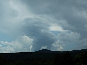 First storm twin updrafts