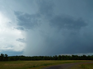 Hail shaft under storm #3 near Halifax