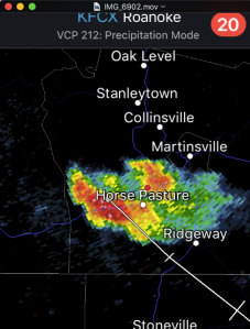 Splitting cell near Martinsville