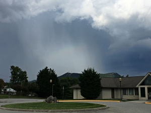 hail shaft over Tinker Mtn